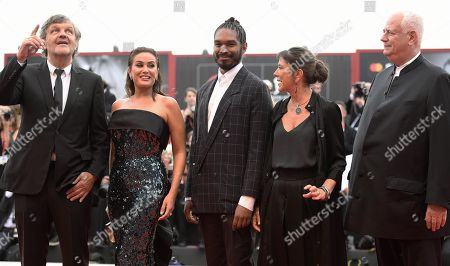 Jury members for the Luigi De Laurentiis Award for a Debut Film, Michael J. Werner, Antonietta De Lillo, Terence Nance, Hend Sabry and Jury President Emir Kusturica, arrive for the opening ceremony and screening of 'La Verite'' at the 76th annual Venice International Film Festival, in Venice, Italy, 28 August 2019. The festival runs from 28 August to 07 September.