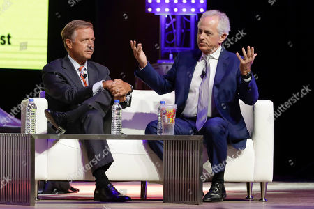 Bill Haslam, Bob Corker. Former Governor Bill Haslam, left, and former Senator Bob Corker take part in the 36/86 Entrepreneurship Festival, in Nashville, Tenn