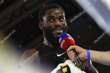 Joshua Buatsi during a Public Workout at York Hall on 28th August 2019