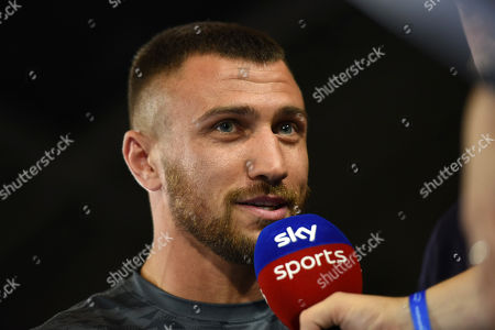 Vasyl Lomachenko during a Public Workout at York Hall on 28th August 2019