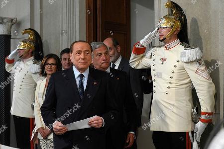 Silvio Berlusconi and Antonio Tajani
