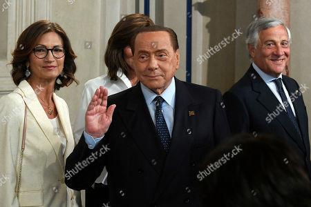 Mariangela Gelmini, Silvio Berlusconi and Antonio Tajani