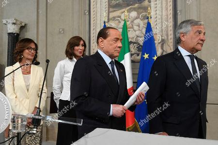 Mariangela Gelmini, Anna Maria Bernini, Silvio Berlusconi and Antonio Tajani