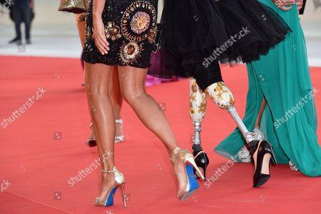 Jo Squillo, Giusy Versace and Francesca Carollo, shoe detail