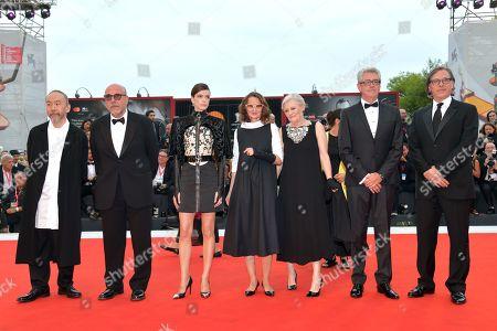 The 76th Venice Film Festival jury Lucrecia Martel, Piers Handling, Mary Harron, Stacy Martin, Rodrigo Prieto, Tsukamoto Shinya and Paolo Virzi