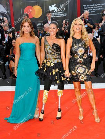 Jo Squillo, Giusy Versace, Francesca Carollo