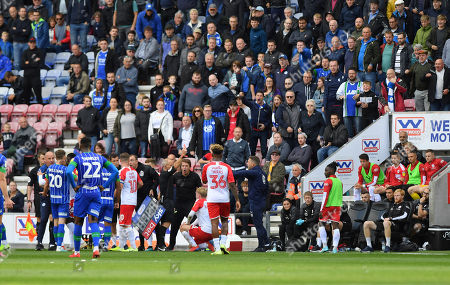 Editorial picture of Wigan Athletic v Barnsley, Sky Bet Championship, Football, DW Stadium, Wigan, UK - 31 Aug 2019