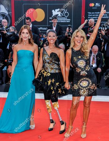 Jo Squillo, Giusy Versace and Francesca Carollo