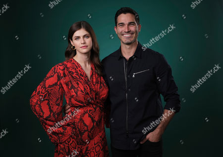 """Alexandra Daddario, Tyler Hoechlin. Alexandra Daddario, left, and Tyler Hoechlin, cast members in the film """"Can You Keep a Secret?"""", pose together for a portrait, in Los Angeles"""