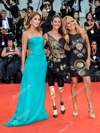 Stock Picture of Giusy Versace, Jo Squillo and Francesca Carollo