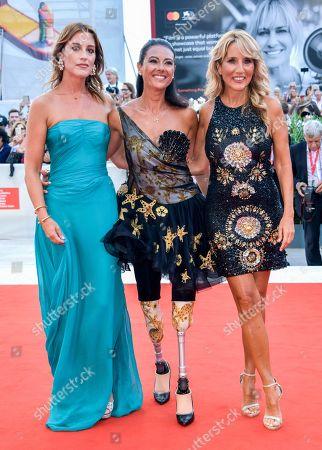 Francesca Carollo, Giusy Versace and Jo Squillo
