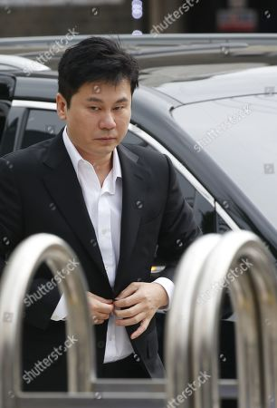 Yang Hyun-suk, former chief producer and founder of YG Entertainment, arrives at the Seoul Metropolitan Police Agency in Seoul, South Korea, 29 August 2019. Yang and Seungri, a former member of boy band BIGBANG, will be investigated by police on charges of illegal gambling abroad. They are suspected of gambling up to tens of millions of won at a time at casinos, including the MGM Hotel and Casino in Las Vegas. Gambling is illegal in Korea.