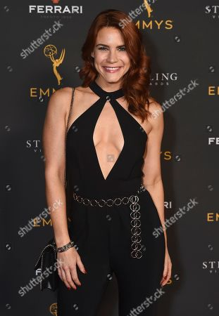 Courtney Hope is seen at the 2019 Daytime Programming Peer Group Celebration on at the Television Academy in North Hollywood, Calif
