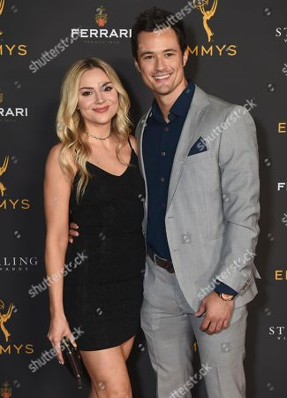 Karissa Staples, Matthew Atkinson. Karissa Staples, left, and Matthew Atkinson are seen at the 2019 Daytime Programming Peer Group Celebration on at the Television Academy in North Hollywood, Calif