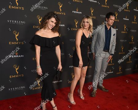 Linsey Godfrey, Karissa Staples, Matthew Atkinson. Linsey Godfrey, from left, Karissa Staples and Matthew Atkinson are seen at the 2019 Daytime Programming Peer Group Celebration on at the Television Academy in North Hollywood, Calif