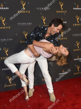 Stock Picture of Arianne Zucker, Shawn Christian. Arianne Zucker, left, and Shawn Christian are seen at the 2019 Daytime Programming Peer Group Celebration on at the Television Academy in North Hollywood, Calif