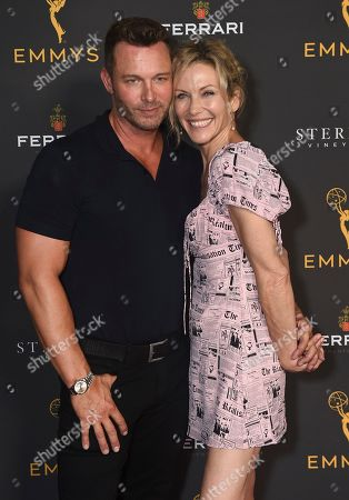 Eric Martsolf, Stacy Haiduk. Eric Martsolf, left, and Stacy Haiduk are seen at the 2019 Daytime Programming Peer Group Celebration on at the Television Academy in North Hollywood, Calif