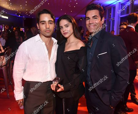 Stock Photo of Jordi Vilasuso, Sasha Calle. Jordi Vilasuso, from right, Sasha Calle and guest are seen at the 2019 Daytime Programming Peer Group Celebration on at the Television Academy in North Hollywood, Calif
