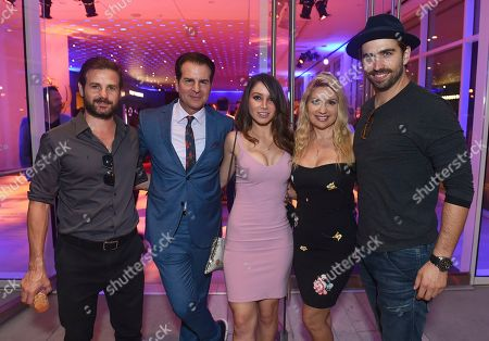 Swen Temmel, Meadow Williams, Celeste Fianna, Vincent De Paul. Swen Temmel, from right, Meadow Williams, Celeste Fianna, Vincent De Paul and guest are seen at the 2019 Daytime Programming Peer Group Celebration on at the Television Academy in North Hollywood, Calif