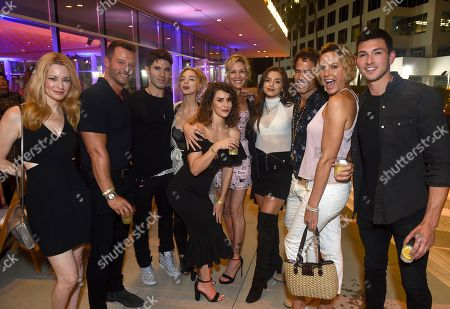 Jessica Morris, Eric Martsolf, Kristos Andrews, Olivia Rose Keegan, Linsey Godfrey, Stacy Haiduk, Victoria Konefal, Shawn Christian, Arianne Zucker, Robert Scott Wilson. Jessica Morris, from left, Eric Martsolf, Kristos Andrews, Olivia Rose Keegan, Linsey Godfrey, Stacy Haiduk, Victoria Konefal, Shawn Christian, Arianne Zucker and Robert Scott Wilson are seen at the 2019 Daytime Programming Peer Group Celebration on at the Television Academy in North Hollywood, Calif