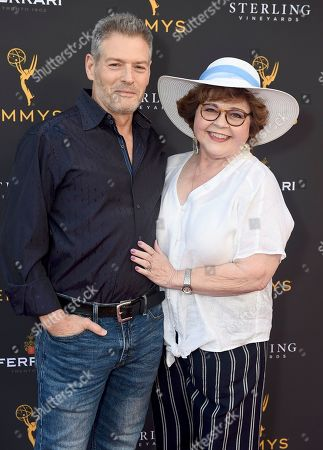 Stock Image of Kevin Spirtas, Patrika Darbo. Kevin Spirtas, left, and Patrika Darbo are seen at the 2019 Daytime Programming Peer Group Celebration on at the Television Academy in North Hollywood, Calif