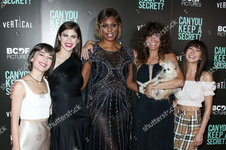 Kate Easton, Alexandra Daddario, Laverne Cox, Elise Duran and Kimiko Glenn