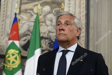 Antonio Tajani during the consultations with the President of the Republic for the formation of the new government