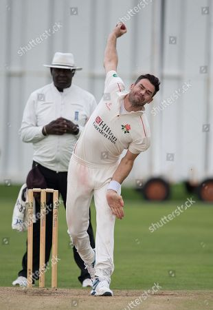 James Anderson about to deliver