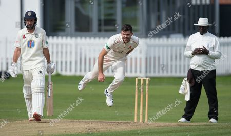 James Anderson bowling against Durham