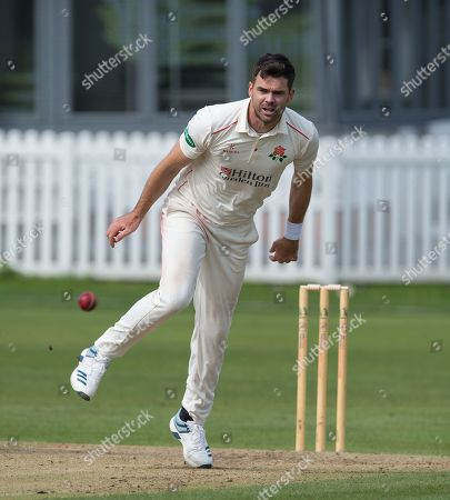 James Anderson in action for Lancashire