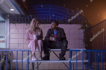 Sydney Sweeney as Cassie Howard and Algee Smith as Chris McKay