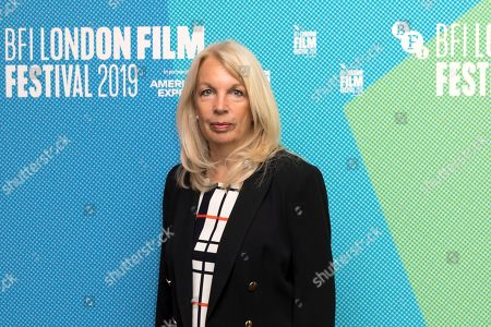 Chief Executive of the British Film Institute Amanda Nevill poses for photographers on arrival at the programme launch for the London Film Festival in central London on . The annual festival will run from Oct. 2 - 13