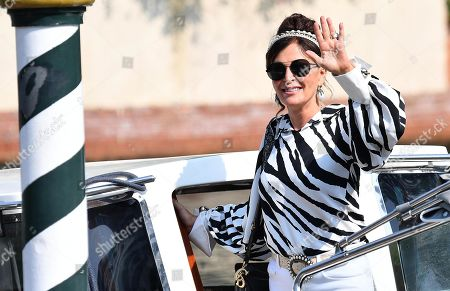 Daniela Santanche, member of Fratelli d'Italia (Brothers of Italy) party, arrives at Lido Beach for the 76th annual Venice International Film Festival, in Venice, Italy, 29 August 2019. The festival runs from 28 August to 07 September 2019.