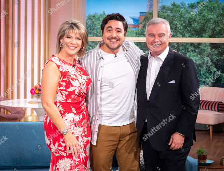 Eamonn Holmes and Ruth Langsford with Noel Sullivan