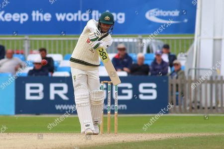Usman Khawaja of Australia batting during the Tour Match match between Derbyshire County Cricket Club and Australia at the Pattonair County Ground, Derby