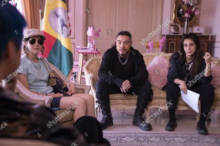 Stock Picture of Ana Fabrega as Tati, Bernardo Velasco as Renaldo and Cassandra Ciangherotti as Ursula