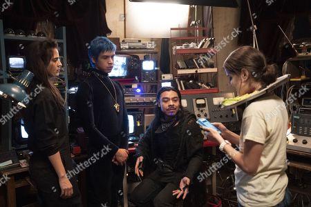 Stock Photo of Cassandra Ciangherotti as Ursula, Julio Torres as Andres, Bernardo Velasco as Renaldo and Ana Fabrega as Tati