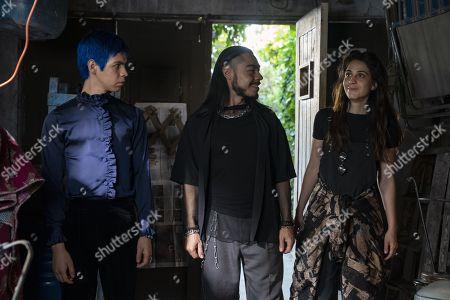 Julio Torres as Andres, Bernardo Velasco as Renaldo and Cassandra Ciangherotti as Ursula