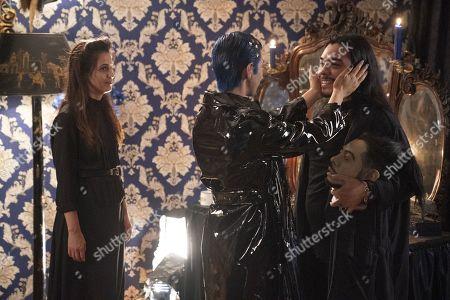 Cassandra Ciangherotti as Ursula, Julio Torres as Andres and Bernardo Velasco as Renaldo