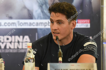Stock Picture of Shane McGuigan during a Press Conference at the Canary Riverside Plaza Hotel on 29th August 2019
