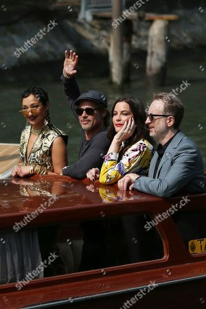 Ruth Negga, Brad Pitt, Liv Tyler, James Gray. Actors Ruth Negga, from left, Brad Pitt, Liv Tyler and director James Gray pose for photographers upon arrival for the photo call of the film 'Ad Astra' at the 76th edition of the Venice Film Festival in Venice, Italy
