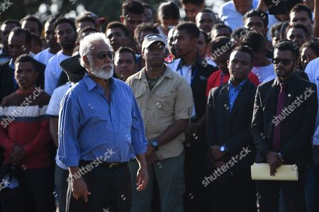 Former Prime Minister of East Timor Xanana Gusmao attends the inauguration of a bridge named after former Indonesian President Bacharuddin Jusuf Habibie in Dili, East Timor, 29 August 2019. East Timor - Timor-Leste- is celebrating the 20th anniversary of its independence from Indonesia on 30 August 2019.