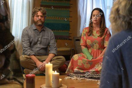 Zach Galifianakis as Chip Baskets and Martha Kelly as Martha Brooks