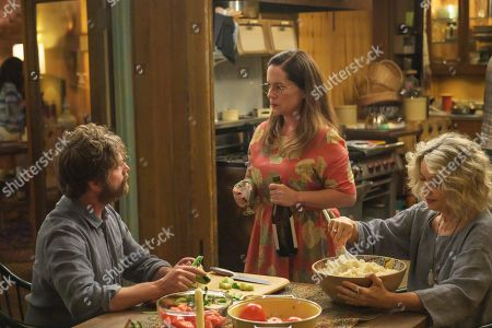 Zach Galifianakis as Chip Baskets, Martha Kelly as Martha Brooks and Constance Forslund as Shelby the Garlic Queen