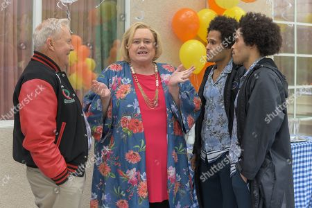 Peter Jason as Uncle Jim, Louie Anderson as Christine Baskets, Garry Clemmons as Cody and Jason Clemmons as Logan