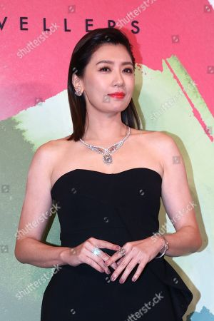 Alyssa Chia wearing 'Greater Flamingo' pink diamond