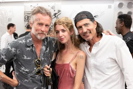 (L-R) Blaine Johnston, Lola and Billy Wirth attend Maxfield Gallery Presents The Fifth Dimension By Danny Minnick on Wednesday August 28, 2019 in Los Angeles, CA