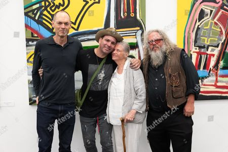 Stock Picture of (L-R) Thurn Hoffman, Danny Minnick, Sandra Seacat and Mark Boone Junior
