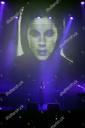 Stock Picture of PVRIS lead singer Lyndsey Gunnulfsen during a concert.