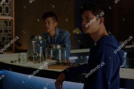 Stock Image of Lawrence Kao as Tommy Wah and Iko Uwais as Kai Jin